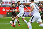 16.03.2019, BWT-Stadion am Hardtwald, Sandhausen, GER, 2. FBL, SV Sandhausen vs FC St. Pauli, <br /> <br /> DFL REGULATIONS PROHIBIT ANY USE OF PHOTOGRAPHS AS IMAGE SEQUENCES AND/OR QUASI-VIDEO.<br /> <br /> im Bild: Philipp Förster / Foerster / Forster (SV Sandhausen #28) gegen Luca Zander (FC St. Pauli #19)<br /> <br /> Foto © nordphoto / Fabisch