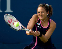 Yurika Sema (JPN) against  Anna Chakvetadze (RUS)  in the first round.  Chakvetadze beat Sema 4-6 6-1 7-6..International Tennis - US Open - Day 1 Mon 31 Aug 2009 - USTA Billie Jean King National Tennis Center - Flushing - New York - USA ..Frey,  Advantage Media Network, Barry House, 20-22 Worple Road, London, SW19 4DH
