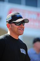 May 6, 2012; Commerce, GA, USA: NHRA top fuel dragster driver J.R. Todd during the Southern Nationals at Atlanta Dragway. Mandatory Credit: Mark J. Rebilas-