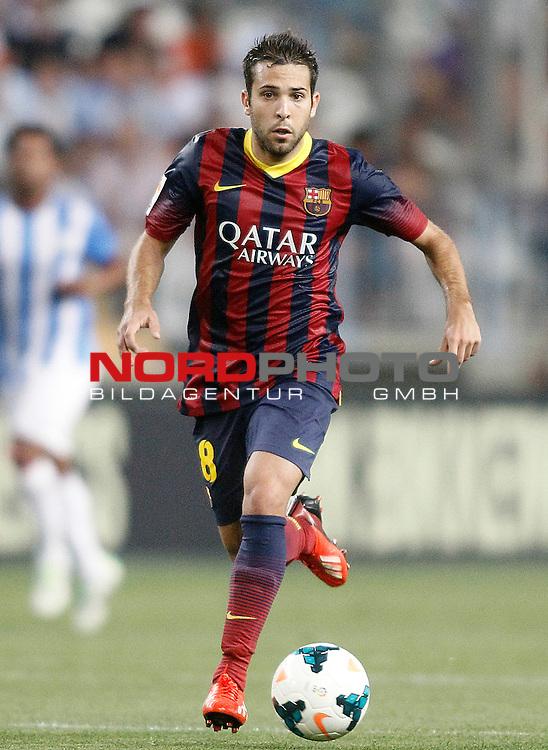 FC Barcelona's Jordi Alba during La Liga match.August 25,2013. Foto © nph / Acero)