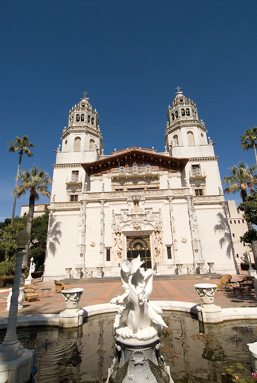 California, San Luis Obispo County: Hearst Castle State Park, formerly the palatial hillside home of publisher William Randoph Hearst..Photo caluis198-71260.Photo copyright Lee Foster, www.fostertravel.com, 510-549-2202, lee@fostertravel.com