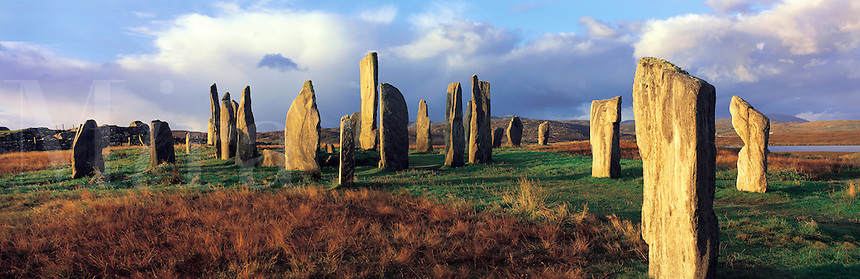 © David Paterson&#xD;The standing stones at Callanish, isle of Lewis, Outer Hebrides, western Scotland.&#xD;&#xD;Keywords: standing, stones, stone-circle, henge, druid, stone-age, neolithic, ancient, historic, Callanish, Lewis, Outer, Hebrides, Scotland, symbol<br />