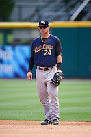Scranton/Wilkes-Barre RailRiders first baseman Tyler Austin (24) during a game against the Buffalo Bisons on July 2, 2016 at Coca-Cola Field in Buffalo, New York.  Scranton defeated Buffalo 5-1.  (Mike Janes/Four Seam Images)