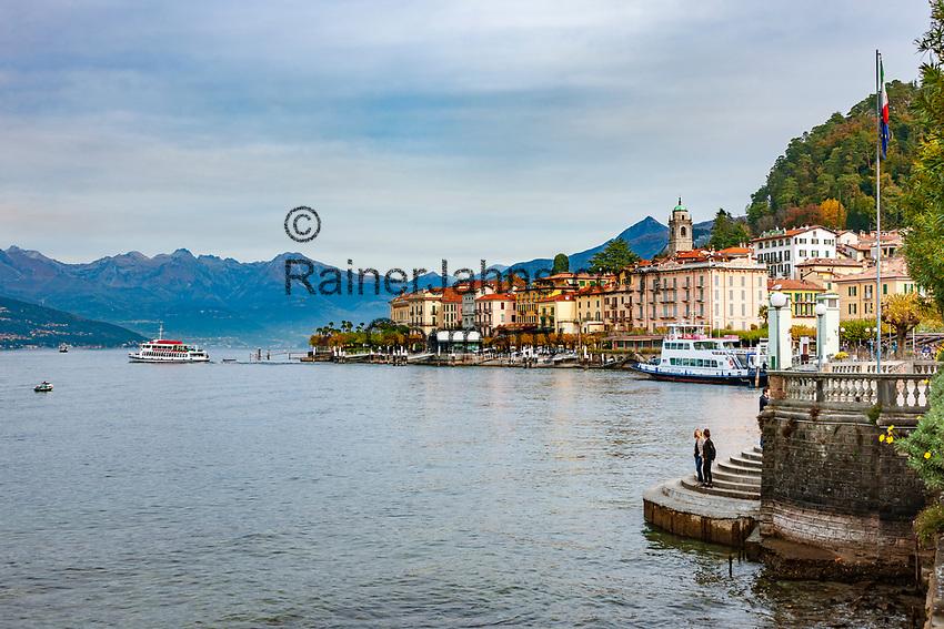 Italy, Lombardia, Bellagio: a perfect dream at Lake Como | Italien, Lombardei, Bellagio: traumhafte Lage an der Spitze der Halbinsel, die die zwei suedlichen Arme des Comer Sees trennt