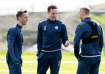 St Johnstone Training&hellip;04.05.18<br />Chris Millar, Steven MacLean and Steven Anderson pictured during training this morning at McDiarmid Park<br />Picture by Graeme Hart.<br />Copyright Perthshire Picture Agency<br />Tel: 01738 623350  Mobile: 07990 594431