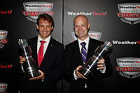 IMSA WeatherTech SportsCar Championship<br /> Night of Champions<br /> Road Atlanta, Braselton GA<br /> Monday 9 October 2017<br /> GTLM Champions Antonio Garcia, Jan Magnussen<br /> World Copyright: Michael L. Levitt<br /> LAT Images