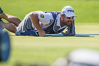 Louis Oosthuizen (RSA) caddy during the 1st round of the Alfred Dunhill Championship, Leopard Creek Golf Club, Malelane, South Africa. 13/12/2018<br /> Picture: Golffile | Tyrone Winfield<br /> <br /> <br /> All photo usage must carry mandatory copyright credit (© Golffile | Tyrone Winfield)