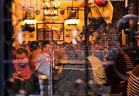 Busy tapas restaurant, Madrid, Spain