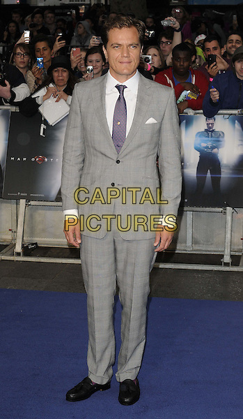 Michael Shannon<br /> 'Man Of Steel' UK film premiere, Empire cinema, Leicester Square, London, England.<br /> 12th June 2013<br /> full length grey gray suit white shirt purple tie<br /> CAP/CAN<br /> &copy;Can Nguyen/Capital Pictures