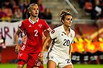 26.07.2017, Stadion Galgenwaard, Utrecht, NLD, Tilburg, UEFA Women's Euro 2017, Russland (RUS) vs Deutschland (GER), <br /> <br /> im Bild | picture shows<br /> Natalya Solodkaya (Russland | Russia #2) mit Lina Magull (Deutschland #20) | (Germany #20), <br /> <br /> Foto © nordphoto / Rauch