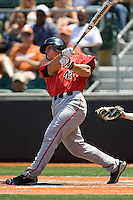 First baseman Stephen Hagan #43 of the Texas Tech Red Raiders swings against the Texas Longhorns on April 17, 2011 at UFCU Disch-Falk Field in Austin, Texas. (Photo by Andrew Woolley / Four Seam Images)