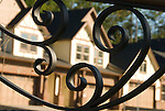 Ironwork detail in a housing community