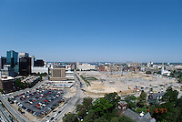 1997 May 06..Redevelopment..Macarthur Center.Downtown North (R-8)..LOOKING WEST.FROM SCHOOL ADMINISTRATION BUILDING.SUPERWIDE..NEG#.NRHA#..