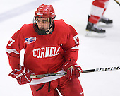 Jordan Kary (Cornell - 17) - The visiting Cornell University Big Red defeated the Harvard University Crimson 2-1 on Saturday, January 29, 2011, at Bright Hockey Center in Cambridge, Massachusetts.