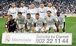 Real Madrid's team photo up fltr, Pepe, Raul Albiol, Sergio Ramos, Karim Benzema and Xabi Alonso. Down fltr Iker Casillas, Kaka, Marcelo, Gonzalo Higuain, Alvaro Arbeloa and Lass Diarra during La Liga match. October 31, 2009. (ALTERPHOTOS/Alvaro Hernandez).