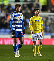 Leeds United late substitution Jamie Shackleton is (right) <br /> <br /> Photographer David Horton/CameraSport<br /> <br /> The EFL Sky Bet Championship - Reading v Leeds United - Tuesday 12th March 2019 - Madejski Stadium - Reading<br /> <br /> World Copyright &copy; 2019 CameraSport. All rights reserved. 43 Linden Ave. Countesthorpe. Leicester. England. LE8 5PG - Tel: +44 (0) 116 277 4147 - admin@camerasport.com - www.camerasport.com