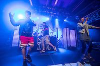 Die Hamburger Hip-Hop-Band Neonschwarz spielte am Freitag den 30. September 2016 im ausverkauften Berliner Club SO36. Das Konzert war der Start zu ihrer Tournee &quot;Eskalation&quot;.<br /> Die Band besteht aus der Saengerin Marie Curry, den Rappern Captain Gips und Johnny Mauser sowie dem DJ Spion Y.<br /> 30.9.2016, Berlin<br /> Copyright: Christian-Ditsch.de<br /> [Inhaltsveraendernde Manipulation des Fotos nur nach ausdruecklicher Genehmigung des Fotografen. Vereinbarungen ueber Abtretung von Persoenlichkeitsrechten/Model Release der abgebildeten Person/Personen liegen nicht vor. NO MODEL RELEASE! Nur fuer Redaktionelle Zwecke. Don't publish without copyright Christian-Ditsch.de, Veroeffentlichung nur mit Fotografennennung, sowie gegen Honorar, MwSt. und Beleg. Konto: I N G - D i B a, IBAN DE58500105175400192269, BIC INGDDEFFXXX, Kontakt: post@christian-ditsch.de<br /> Bei der Bearbeitung der Dateiinformationen darf die Urheberkennzeichnung in den EXIF- und  IPTC-Daten nicht entfernt werden, diese sind in digitalen Medien nach &sect;95c UrhG rechtlich geschuetzt. Der Urhebervermerk wird gemaess &sect;13 UrhG verlangt.]