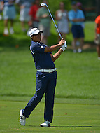 June 29, 2013  (Bethesda, Maryland) Andres Romero after his second shot on the 9th hole during Round 3 of the AT&T National at the Congressional Country Club in Bethesda, MD.   (Photo by Don Baxter/Media Images International)