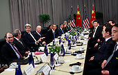 United States President Barack Obama holds a bilateral meeting with President Xi Jinping of the People's Republic of China at the Nuclear Security Summit in Washington, DC on March 31, 2016.<br /> Credit: Dennis Brack / Pool via CNP