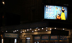 Theatre Marquee during the Broadway Opening Night Performance of 'Vanya and Sonia and Masha and Spike' at the Golden Theatre in New York City on 3/14/2013.
