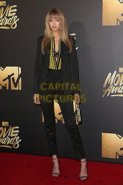 Burbank, CA - April 09 Gigi Hadid Attending 25th Annual MTV Movie Awards at Warner Brothers Studios On April 09, 2016. <br /> CAP/ADM/FS<br /> &copy;FS/ADM/Capital Pictures