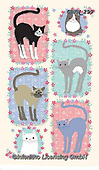 Kate, CUTE ANIMALS, LUSTIGE TIERE, ANIMALITOS DIVERTIDOS, paintings+++++Floral posy cats 3,GBKM299,#ac#, EVERYDAY ,cat,cats