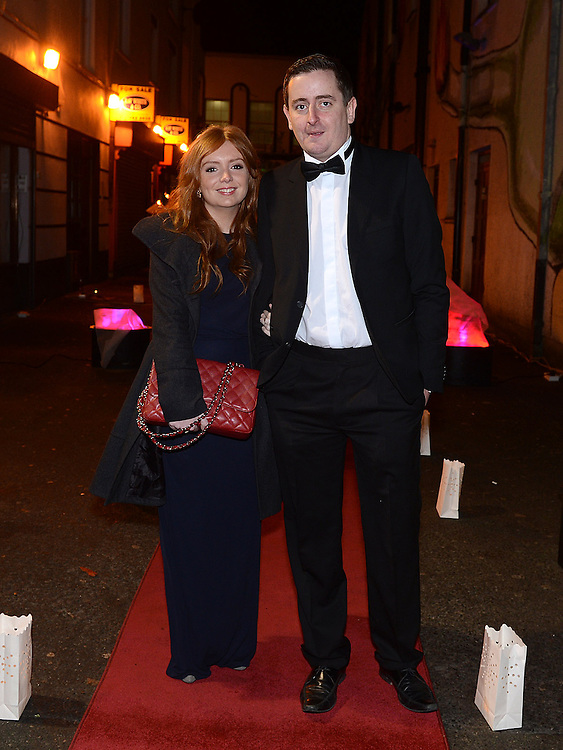 Rory Callaghan and Sarah Browne pictured at the Business Excellence Awards in Earth Night Club at the Westcourt Hotel. Photo:Colin Bell/pressphotos.ie