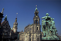 church, Dresden, Germany, Sachen, Saxony, Europe, Hofkirche a Catholic Church built in 1755 in downtown Dresden