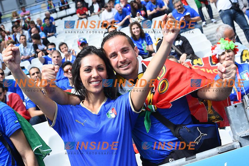 Tifosi Italia Fans Italy <br /> Paris 27-06-2016 Stade Saint Denis <br /> Football Euro2016 Italy - Spain / Italia - Spagna Round of 16 / Ottavi di finale<br /> Foto Massimo Insabato / Insidefoto
