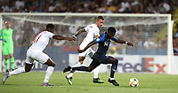 Football: Uefa under 21 Championship 2019, England - France, Dino Manuzzi stadium Cesena Italy on June18, 2019.<br /> France's Jonathan Bamba (r) in action with England's James Maddison (c) and Ryan Sessegnon (l) during the Uefa under 21 Championship 2019 football match between England and France at Dino Manuzzi stadium in Cesena, Italy on June18, 2019.<br /> UPDATE IMAGES PRESS/Isabella Bonotto