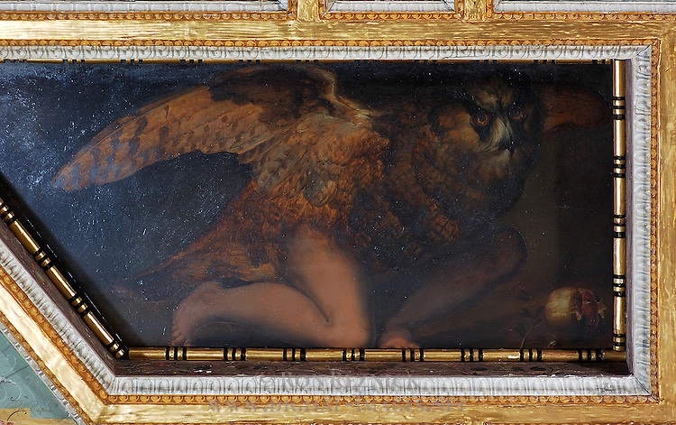 Ascalaphus Turned into an Owl and Pomegranate Sala di Ceres Apartment of the Elements Palazzo Vecchio Florence