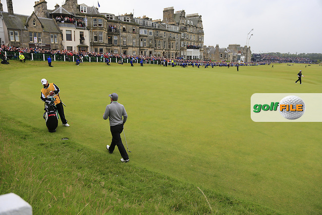 Paul DUNNE (AM)(IRL) on the 18th green during Monday's Final Round of the 144th Open Championship, St Andrews Old Course, St Andrews, Fife, Scotland. 20/07/2015.<br /> Picture Eoin Clarke, www.golffile.ie