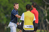 Luke BROWN (NZL) shakes hands following Rd 1 of the Asia-Pacific Amateur Championship, Sentosa Golf Club, Singapore. 10/4/2018.<br /> Picture: Golffile | Ken Murray<br /> <br /> <br /> All photo usage must carry mandatory copyright credit (&copy; Golffile | Ken Murray)