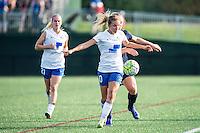 Allston, MA - Sunday July 17, 2016: Louise Schillgard, Leah Galton during a regular season National Women's Soccer League (NWSL) match between the Boston Breakers and Sky Blue FC at Jordan Field.