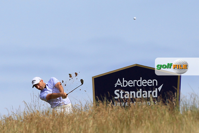 Oliver Wilson (ENG) on the 5th during Round 4 of the Aberdeen Standard Investments Scottish Open 2019 at The Renaissance Club, North Berwick, Scotland on Sunday 14th July 2019.<br /> Picture:  Thos Caffrey / Golffile<br /> <br /> All photos usage must carry mandatory copyright credit (© Golffile | Thos Caffrey)
