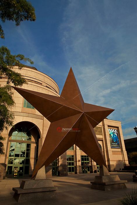 Texas Lone Star outside The Story of Texas, located in Bob Bullock Texas State History Museum.