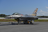 FORT LAUDERDALE FL - MAY 04: U.S. Air Force F-16 Viper sits on the tarmac at Fort Lauderdale Executive Airport during Fort Lauderdale Air Show Media day on May 4, 2017 in Fort Lauderdale, Florida. Credit: mpi04/MediaPunch