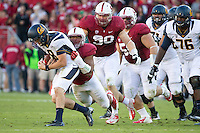 Stanford, CA -- November 23, 2013:  Stanford's James Vaughters during a game against Cal at Stanford Stadium. Stanford defeated Cal 63-13.