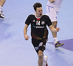 15.01.2013 Granollers, Spain. IHF men's world championship, prelimanary round. Picture show  Patrick Groetzki  in action during game between Germany v Argentina at Palau d'esports de Granollers