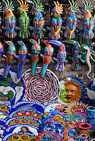 Colorful handicrafts and souvenirs for sale in the city of Veracruz, Mexico