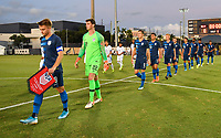 Miami, FL - Tuesday, October 15, 2019:  USMNT U-23 Starting XI during a friendly match between the USMNT U-23 and El Salvador at FIU Soccer Stadium.