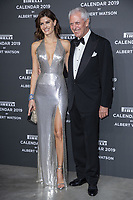 "Isabeli Fontana, Marco Tronchetti Provera (Pirelli's President) attend the gala night for official presentation of the Presentation of the Pirelli Calendar 2019 ""The cal"" held at the Hangar Bicocca. Milan (Italy) on december 5, 2018. Credit: Action Press/MediaPunch ***FOR USA ONLY***"