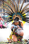 Mexico, Mexico City, Aztec Dancer, Headdress, Penachos, Danza Azteca, Spiritual Cleansing