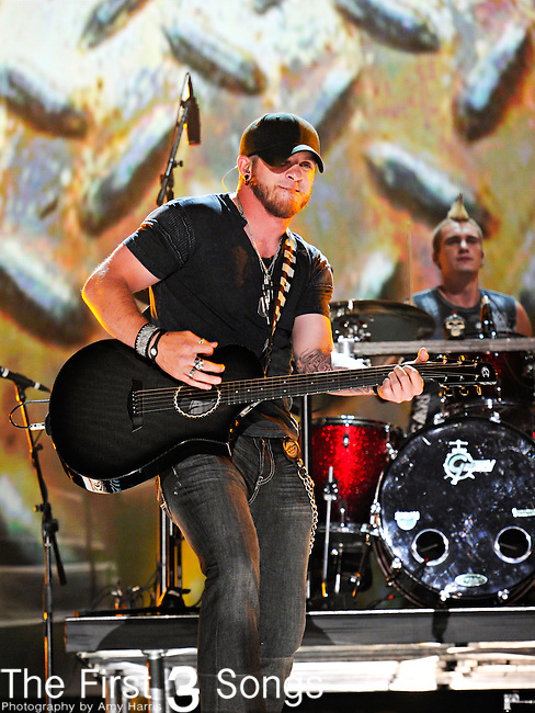 Brantley Gilbert performs at LP Field during the 2012 CMA Music Festival on June 08, 2011 in Nashville, Tennessee.