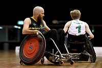 Michael Ozanne (AUS)  vs Ireland<br /> Australian Wheelchair Rugby Team<br /> 2018 IWRF WheelChair Rugby <br /> World Championship / Day 4<br /> Sydney  NSW Australia<br /> Wednesday 8th August 2018<br /> © Sport the library / Jeff Crow / APC