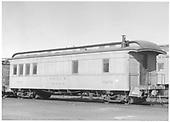 #0291 office car.  3/4 view.<br /> D&amp;RGW  Alamosa, CO  Taken by Richardson, Robert W. - 6/1/1950