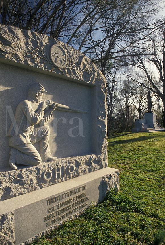Vicksburg National Military Park, Mississippi, Vicksburg, MS, Ohio Monument at Vicksburg Nat'l Military Park in Mississippi.