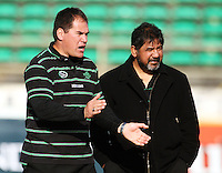 Manawatu coaches Dave Rennie and Bruce Hemara during the Air NZ Cup preseason match between Manawatu Turbos and Wellington Lions at FMG Stadium, Palmerston North, New Zealand on Friday, 17 July 2009. Photo: Dave Lintott / lintottphoto.co.nz