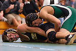 Manhattan Beach, CA 01/29/10 - In the 125 lbs. weight category Mira Costa's Weston Carica wrestled Ben Latch of Peninsula.  Peninsula defeated Mira Costa 49-15.