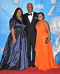 Shonda Rhimes,James Pickens Jr. and Chandra Wilson arriving at the 40th NAACP Image Awards held at the Shrine Auditorium Los Angeles, Ca. February 12, 2009. Fitzroy Barrett